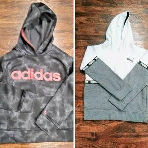 Adidas / Puma Hoodie Bundle Boys L